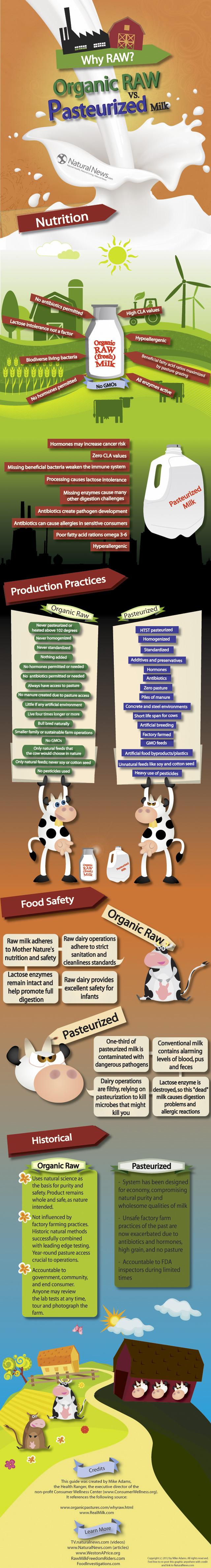 Organic vs Pasteurized Milk